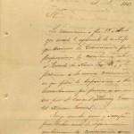 Carta del general Zachary Taylor