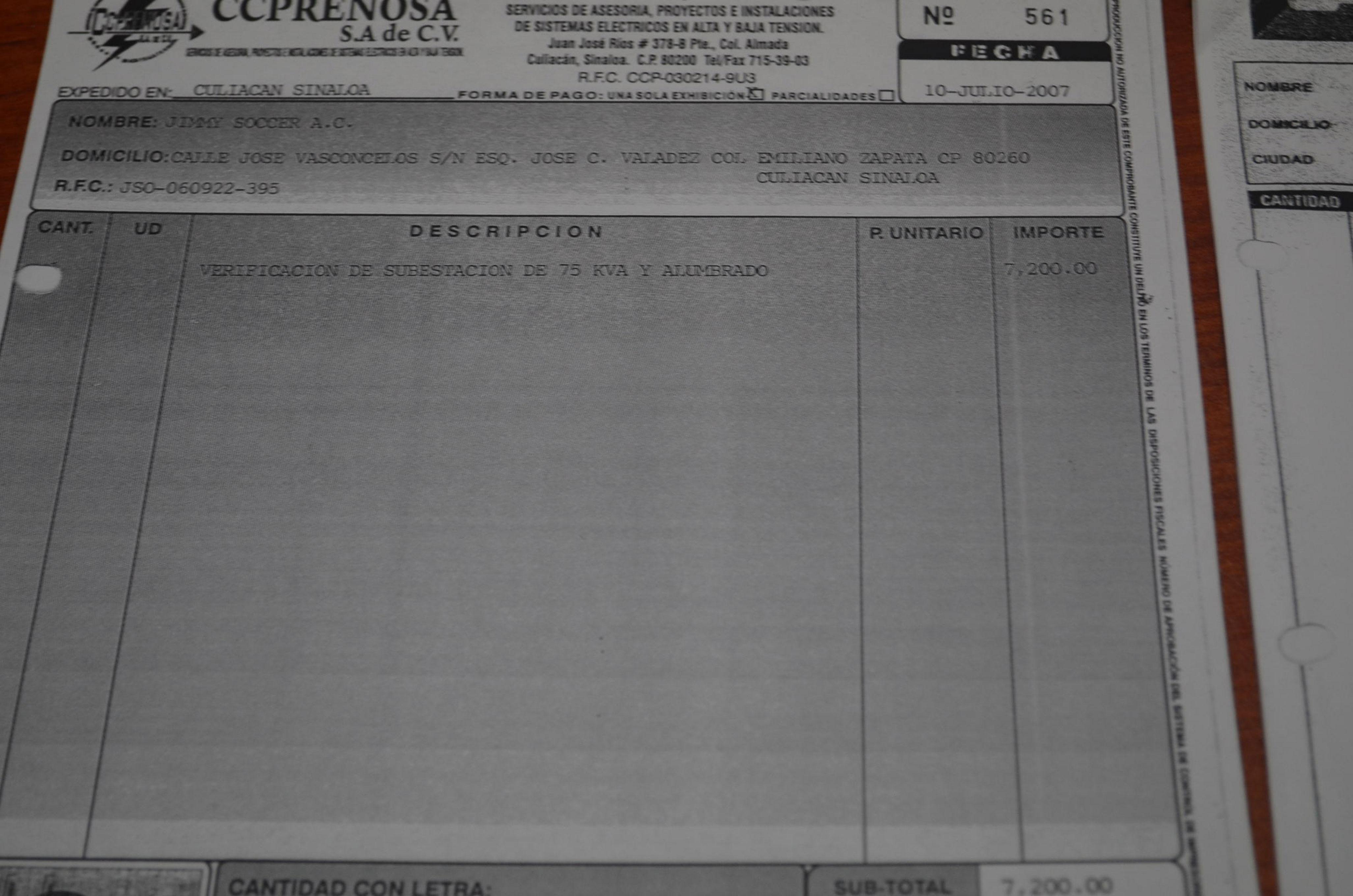 Copia de factura original utilizada durante el caso de Jimmy Ruiz. Foto: Gabriela Sánchez.