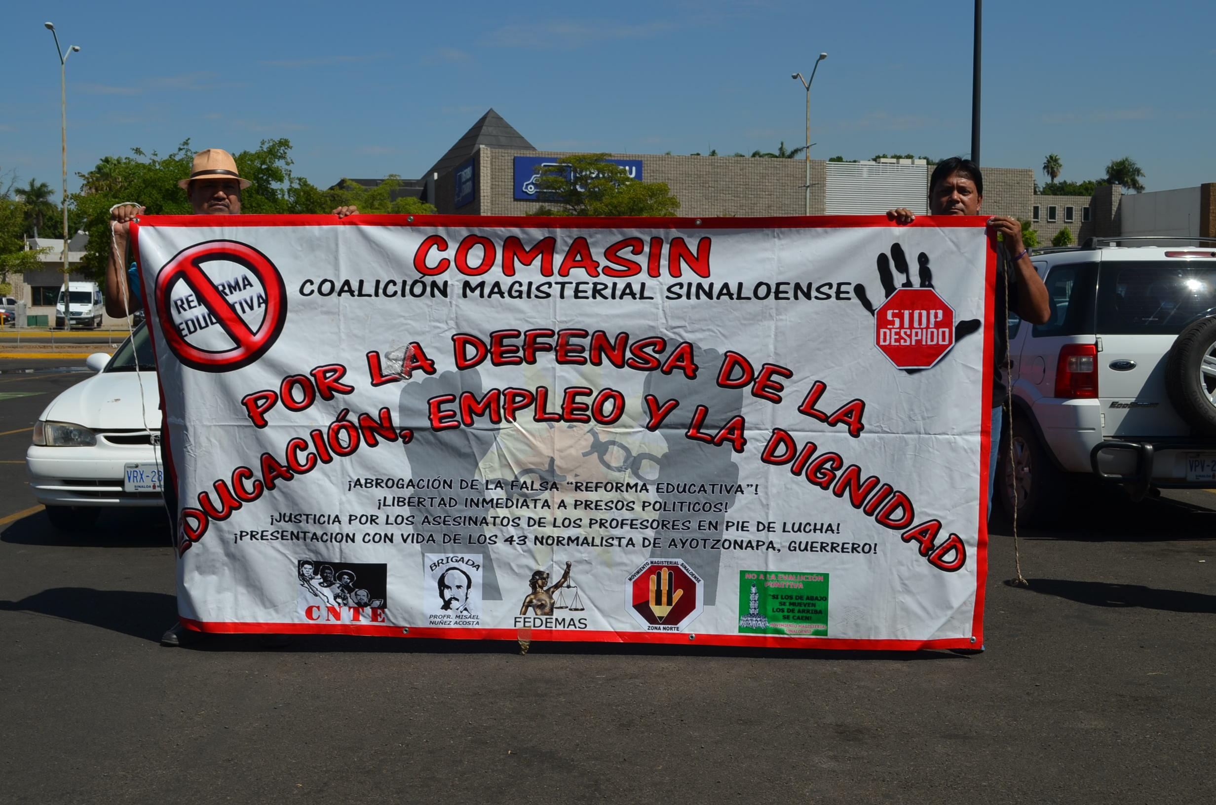 Se crea la coalición COMASIN como comisión en defensa de los maestros. Fotografía: Gabriela Sánchez