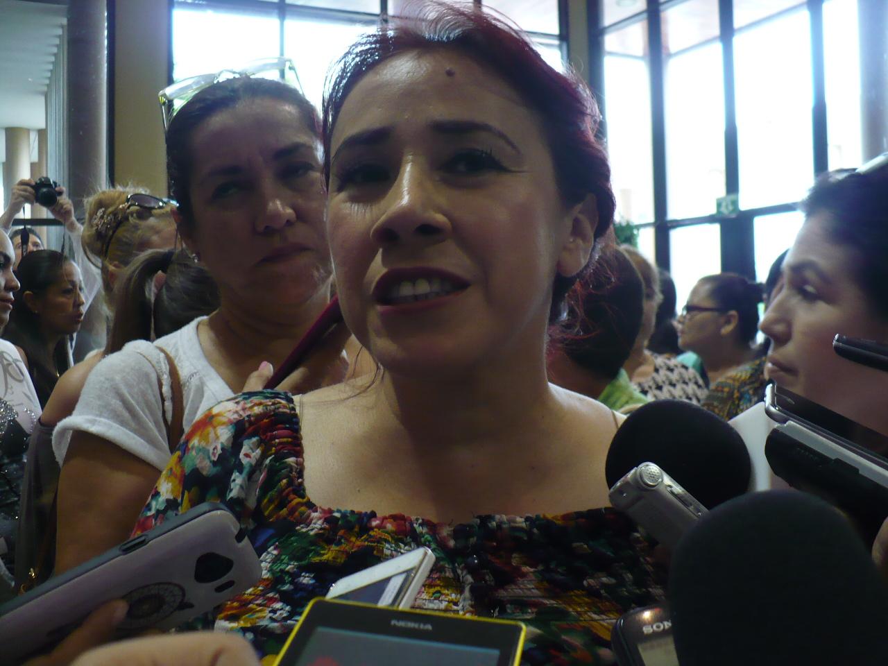 Seila Quintero, dirigente del movimiento de las mujeres protestantes. Fotografía: Gabriela Sánchez
