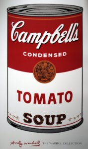 Andy Warhol- Campbell's soup can