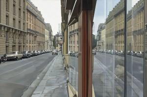Richard Estes- Paris Street Scene